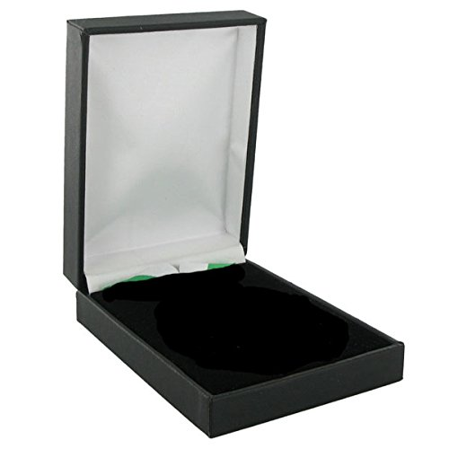 Deluxe Black Leatherette Presentation Medal Box - Pack of 10