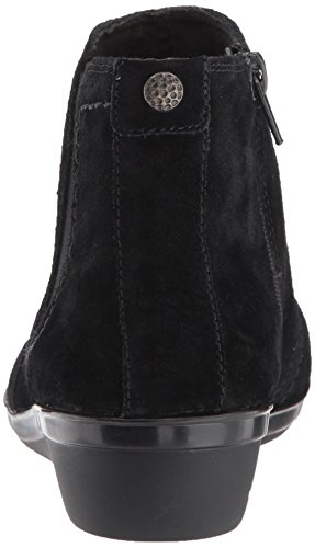 6 M Women's Everlay Suede Leigh Ankle US Black CLARKS 5 Bootie 06zqq