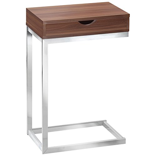Accent Table with Drawer in Walnut Finish