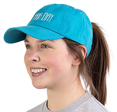 Bad Hair Day | Ponytail Dad Hat, Boating Lake Hiking Beach Pony Tail Low Cap