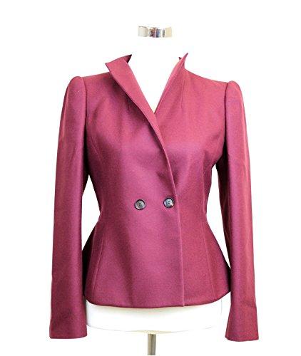 Gucci Women's Burgundy Wool Cashmere Jacket Blazer 326894 6248 Size 42