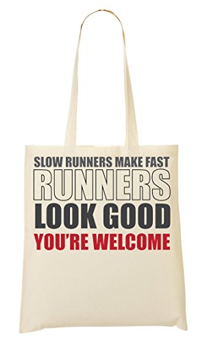 Slow Runners Make Fast Runners Look Good Bolso De Mano Bolsa De La Compra