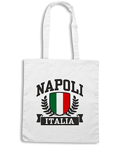 T-Shirtshock - Bolsa para la compra TSTEM0067 napoli italia white Blanco