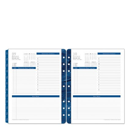 Monarch Monticello One-Page-Per-Day Ring-bound Planner - Jan 2017 - Dec 2017