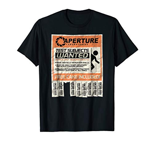 Portal 2 Test Subject Ad t-shirt - PTL048