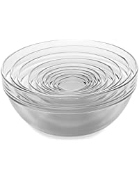 Purchase 10-Piece Tempered Glass Nesting Mixing and Prep Bowl Set comes in Microwave and dishwasher safe. lowestprice