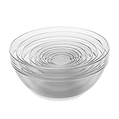 10-Piece Tempered Glass Nesting Mixing and Prep Bowl Set comes in Microwave and dishwasher safe.
