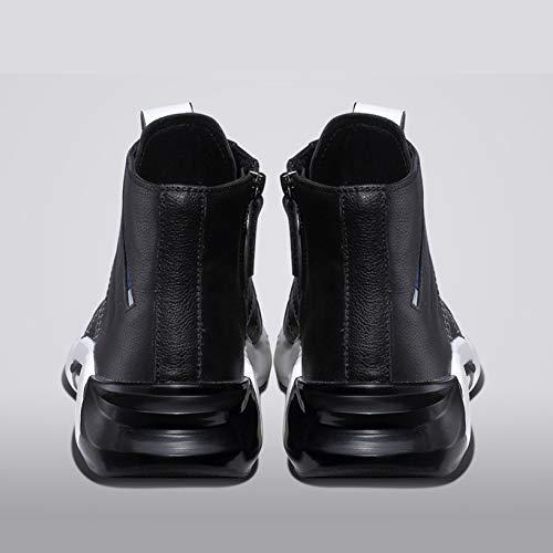 E Autunno 39 Stivali Inverno in Scarpe Oxford Scarpe Pelle Stivali Classiche Lamper Martin Adulti Stivali Black Hn7PZP