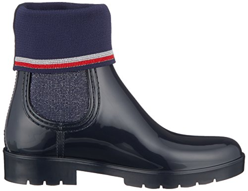 Boot Rain Knitted Pluie Tommy et Sock Femme Bottines Bleu Bottes Midnight 403 de Hilfiger wtpnwqHI