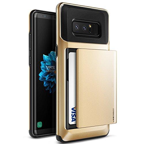 Galaxy Note 8 케이스 카드 수납내 충격 VRS DESIGN Damda Glide 미군 MIL 규격 배면 카드 케이스 2 매충격 흡수 하이브리드 슬림 커버 [ Samsung Galaxy Note8 ] 골드