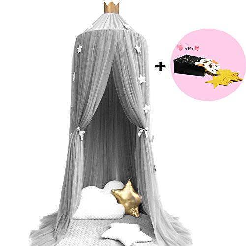 Read About Mosquito Net Dome Bed Canopy for Kids Round Princess Play Tent Lace Netting Bedding for B...
