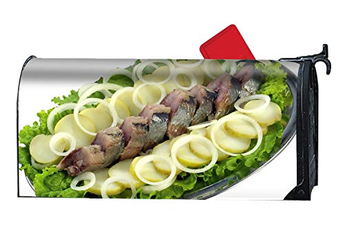 XPNiao Fish Herring Lettuce Onions Potatoes Large/Oversized Magnetic Mailbox Cover Mailwraps - Oversize Potato