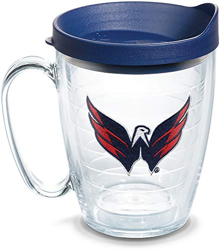 Tervis 1062520 NHL Washington Capitals Primary Logo Tumbler with Emblem and Navy Lid 16oz Mug, Clear