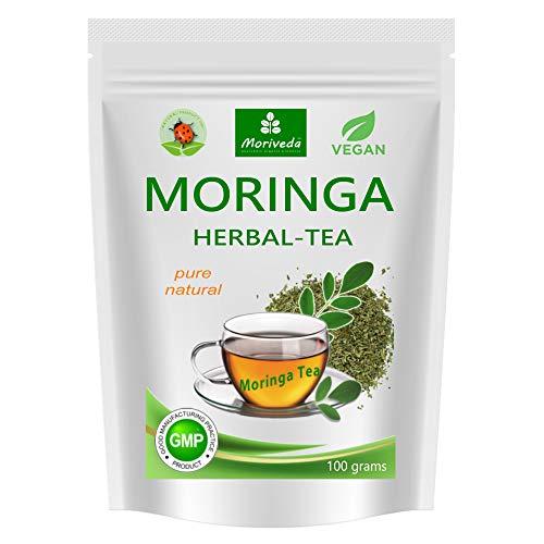 Te de Moringa 100% natural y vegano (opcionalmente, mezcla de hojas de Moringa, manzana-canela, granada, jengibre, menta) 1A Calidad (diferentes variedades)