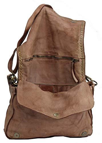 BZNA Bag Gil Rosa Italy Designer Clutch axelväska dam handväska axelväska väska läder Shopper ny