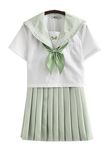 Japanese School Uniform Adult Women, Halloween Sailor Cosplay Costume Outfit Short Sleeve (Adult Easter Outfits)