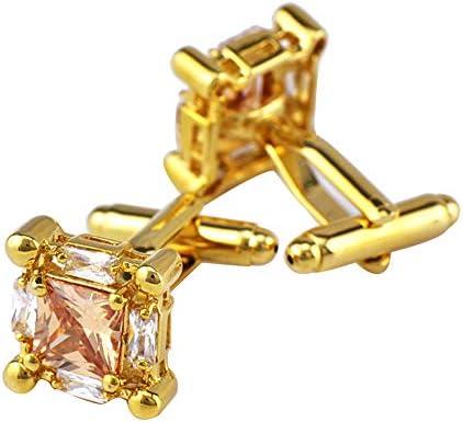 ゴールドキュービックジルコニアカフスボタンカフネイルメンズフレンチボタンスーツシャツ結婚式ビジネス卒業ギフト