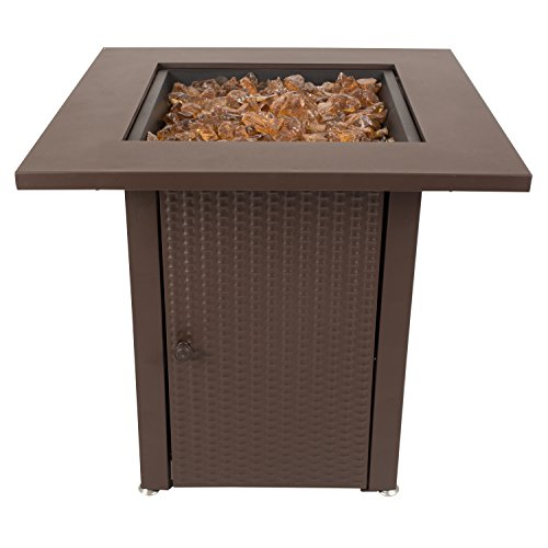 Pleasant Hearth OFG007TF Grant Table Gas fire Pit, Mocha
