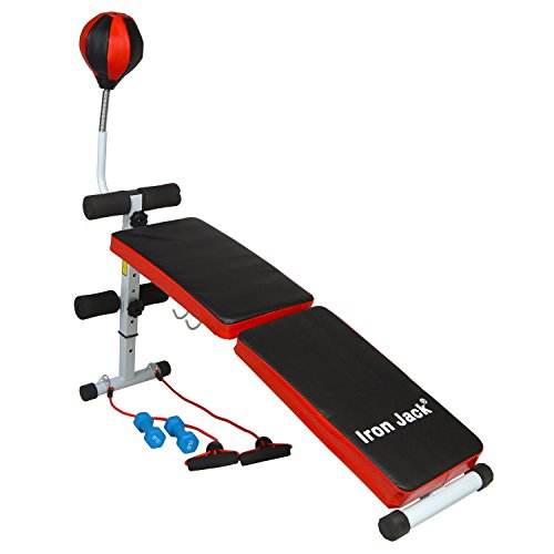Iron Jack Foldable Multi Function Incline Sit Up Bench wi...
