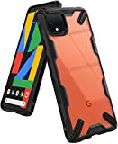 Ringke Fusion X Designed for Google Pixel 4 Case, TPU Bumper Clear Hard PC Drop Protection Back Cover for Google Pixel4 Case (2019) - Black