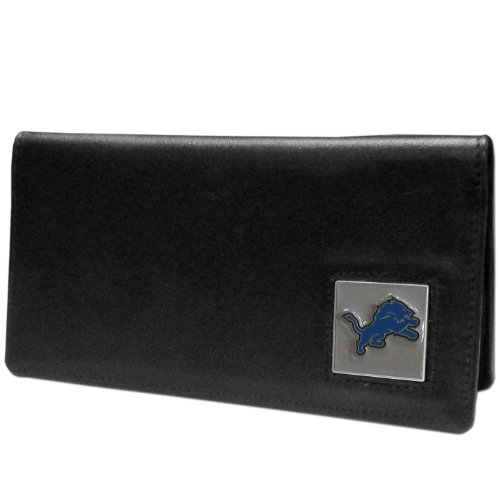 NFL Detroit Lions Leather Checkbook Cover