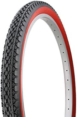 PAIR of Duro 26 x 2.125 BLACK//WHITE Side Wall HF-133 Heavy Duty Bicycle tire...