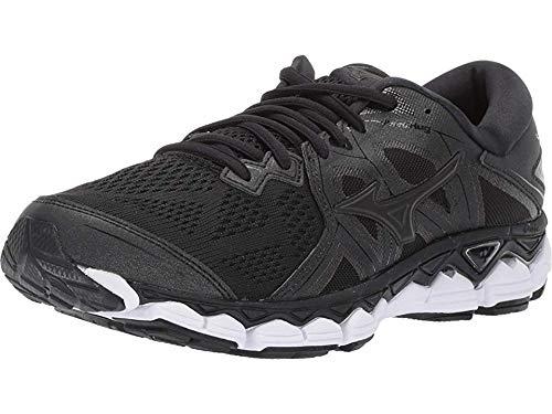 Mizuno Women's Wave Sky 2 Running Shoe, Black, 9 B US