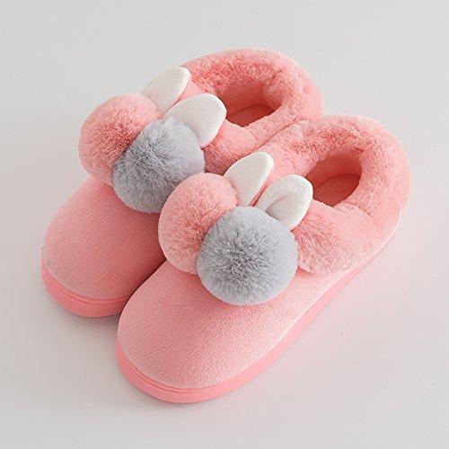 Aemember zapatillas de algodón, Ladies Home, bolsa de invierno, piscina caliente Pareja, calzado de invierno,38-39 metros,Pink Ladies 38-39 yards|Pink Ladies
