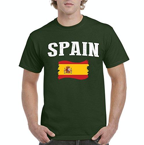 NIB Spain Flag Traveler`s Gift Men's T-Shirt Tee (4XLMG) by NIB