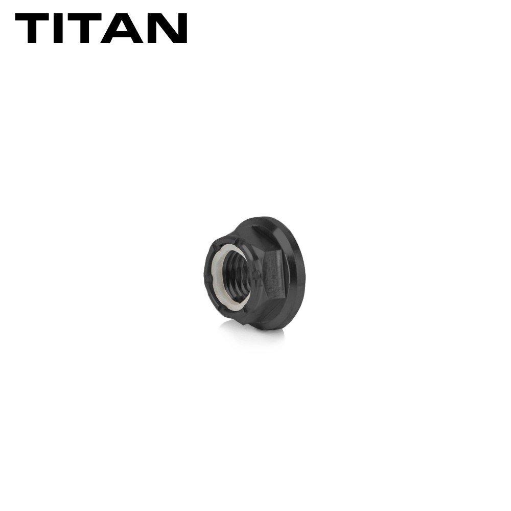 Titan Mutter Titanmutter M5 schwarz selbstsichernd 4er Set Racefoxx