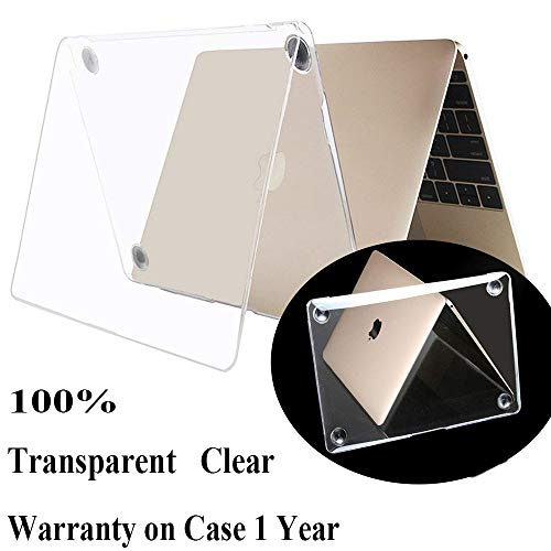 Millimeter New Apple MacBook Case 12 A1534 with Retina Display (2015 Release) Transparent Mac 12 inch case Clear Crystal Cover Antiscratch Shell 2016 Rose Golden Shell Sleeves Covers
