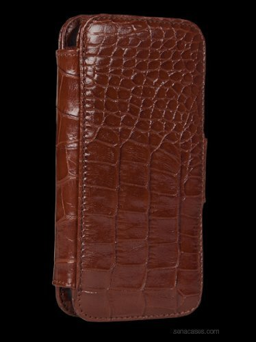 Sena Cases WalletBook Case for iPhone 5 - Retail Packaging - Croco ()