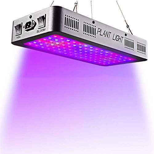 BULY LED Plant Grow Light 600W, Full Spectrum Double Switch for Indoor Plants Veg and Flower, IR&UV Growing Lamp Kits with for Greenhouse Hydroponic Plants,1500W ()