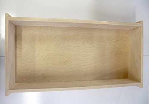 Contemporary Unfinished Bed - Wooden Under bed Storage Box, Unfinished. Maple Sides, Birch Plywood Bottom with 4 Caster Wheels. Every Bed Room Needs One Of These, Unfinished or Shellac Finish