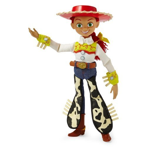 Disney Collection Toy Story Pull String TALKING JESSIE 15 Inch Cowgirl Soft Doll Figure with Removable Cowboy Hat (Model 1815-T -