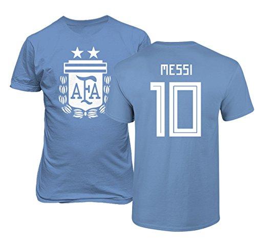 Tcamp Argentina 2018 National Soccer #10 Lionel MESSI World Championship Mens T-Shirt
