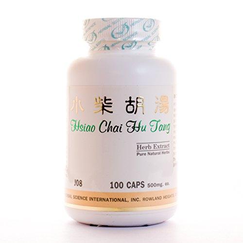 Bupleurum Liver Formula Dietary Supplement 500mg 100 capsules (Xiao Chai Hu Tang) J08 100% Natural Herbs (Hu Wan Chai Xiao Tang)