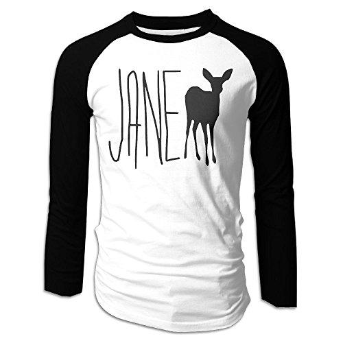 Gilles Men's Long Sleeve Baseball Raglan Jersey Shirt Life is Strange - Jane Doe Black M -