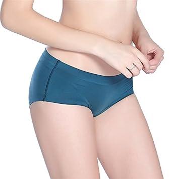 ZHUDJ Mujeres De Solaz Ropa Interior Transpirable, Sudor-Soft No Marcado En El Triángulo