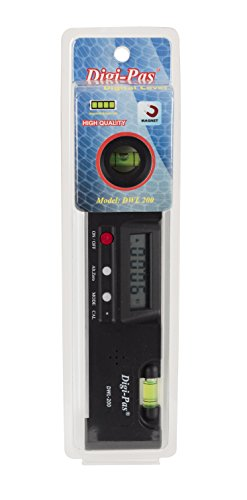 DigiPas DWL200 Digital Electronic Torpedo Level, Protract...