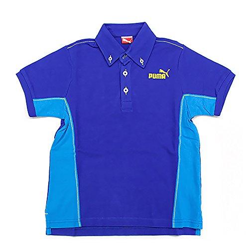 プーマ キッズ カジュアル ポロシャツ PUMA 820296 半袖 ボタンダウン シャツ トップス