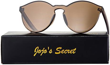 65ced437360 JOJO S SECRET One Piece Rimless Sunglasses Transparent Candy Color Women  Sunglasses JS017