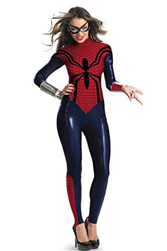 Spider Man Cosplay for Halloween Costumes Cartoon Women Dress up Clothing (Spiderman Costume For Women)