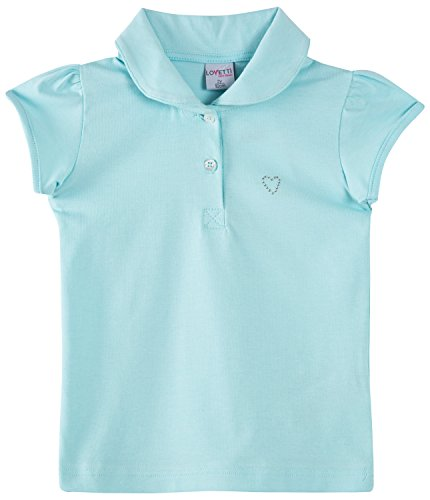 Girls' Basic Short Puff Sleeve Polo Shirt Mint