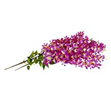 Homyl Pack of 2Pieces Silk Lilac Garland Plants Artificial Flower Garland Photography Backdrop Prop, Ceilling Hanging Decor - Purple White