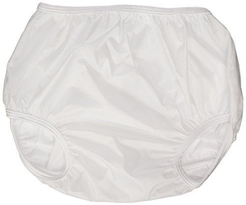 (Dappi Waterproof 100% Nylon Diaper Pants, 2 Pack, White, X-Large)