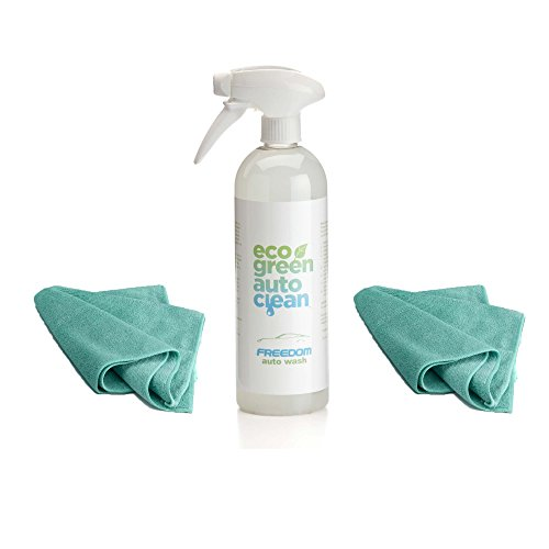 eco-green-auto-clean-waterless-car-wash-starter-kit-freedom-auto-wash-2-microfiber-towels-plant-base