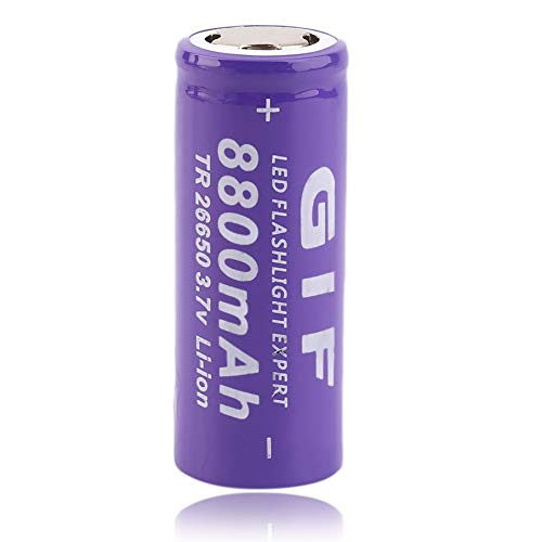 - 3.7V 26650 8800mAh Li-ion Rechargeable Battery For LED Flashlight Torch
