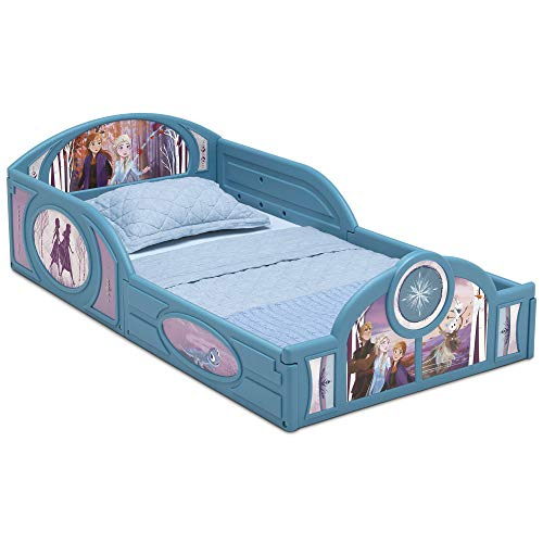 Disney Frozen II Plastic Sleep and Play Toddler Bed by Delta Children