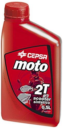 CEPSA moto 2T - Aceite sintético para motor de 2 tiempos, 0,5 ml, para motos y scooters: Amazon.es: Coche y moto
